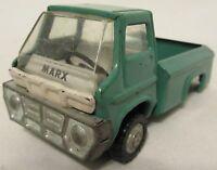 Vintage Louis Marx Co Pressed Steel Teal Pickup Truck 1969 Made In Japan Toy