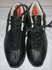 Riddell Men's Black Leather Athletic Walking Shoes Sz 9.5