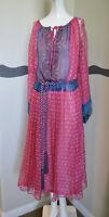 Vintage 70s Dress Zandra Rhodes Attributed