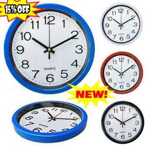 Round Wall Clock BedroomsKitchen Clocks Quartz Silent Sweeps Movement Home