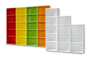 Clic Regal L 178cm Bücherregal 3 Höhen 9 Farben werkzeuglose Montage Clic System