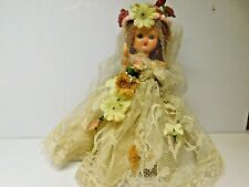 Vintage Nancy Ann Storybook bisque Doll White Color dress Spring Ex+ Cond