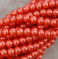 "Glass Pearl Faux Round Beads 4mm -Strand 32""-Pick."