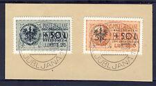 wwII Laibach 1944 Mi. 31-32 (*) auf Briefstück REPRINT, Fälschung