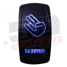 12V Rocker Switch On/Off The Shocker LED Backlit Ski Wake Fish Pontoon Boat Blue
