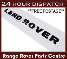 Land Rover Badge Letters Bonnet Black front  hood Lettering DISCOVERY