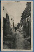 CPA MAROC: TAZA - Rue principale / 1920