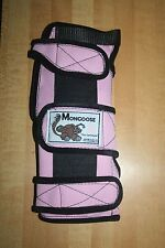 "Mongoose ""Optimum"" Bowling Wrist Band Support, LLOP, Left hand, Large, Pink,"