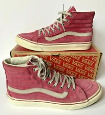VANS HI TOP SHOES / BOOTS. PINK. WOMENS UK 8. VGC.