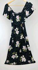 Almost Famous Women's Black Off-The-Shoulder Floral Bodycon Dress Size Large