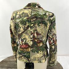 Womens Blazer Sz 10 Victorian Autumn Tapestry Brocade Jacket Coat Focus 2000