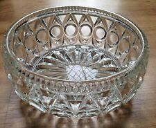 Glass fruit or serving bowl 8 inches diameter 3.5 inches tall