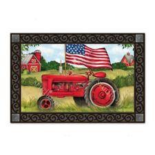New MatMates Patriotic Tractor Doormat