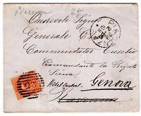 BUSTA LETTERA ITALIA REGNO 1886