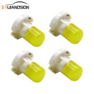 10Pcs T4.2 White LED Dashboard Panel Gauge Light Lamp Bulb for Car Interior 12V