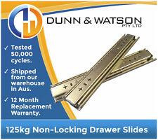 """356mm 125kg Drawer Slides / Fridge Runners - 250lb, 14"""", Draw, Trailer, Hardware"""