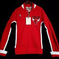 100% Authentic Mitchell & Ness Bulls Warm Up Jacket Mens Size XL 48 - jordan
