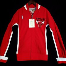 100% Authentic Mitchell & Ness Bulls Warm Up Jersey Jacket Size 44 L - jordan