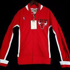 100% Authentic Mitchell & Ness Bulls Warm Up Shirt Jacket Size S 36 - jordan