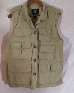 Orvis Size Medium Cotton Hiking Hunting Fishing Outdoor Vest Jacket Coat