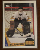 Bill Ranford - 1987-88 Topps #13 - Rookie RC - Bruins - NM-MT - Free Shipping