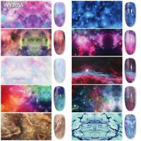 10 Pcs 20X4 cm Starry Night Nail Art Foil Sticker Transfer Film Manicure DIY