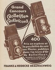 Z8418 Rolleiflex Rolleicord - Pubblicità d'epoca - 1935 Old advertising