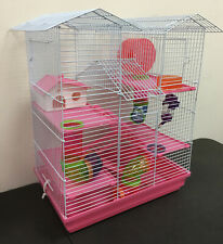 5-Floor Large Twin Towers Hamster Habitat Cage Rodent Gerbil Mouse Mice Rats