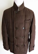 $4370 BRUNELLO CUCINELLI Dark Brown Goose Down Padded Puffer Jacket Coat 2XL XXL