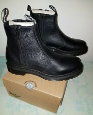 Dr.Martens 2976 W Zips Black Womens Chelsea Boots Aunt Sally Leather uk 6 eu 39