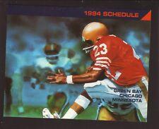 NFL--Vikings/Bears/Packers--1994 Pocket Schedule--Elan