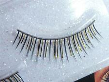 New False Fake Eyelashes Gold Black Lashes Costume Halloween
