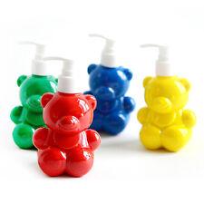 4x200ml Bottle Finger Paint Washable Non-toxic Art Sponges Gift Great Kids Paint
