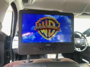 "9"" Headrest In Car Portable DVD Player Mounting Strap USB SD Slot AV In & Out"