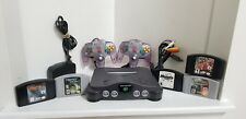 vintage NINTENDO 64 Console with 5 Games and 2 Controllers - SEE DESCRIPTION