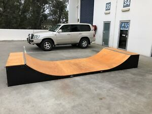 Half Pipe Skateboard Ramp Modular 2ft High X 1.8m Wide 4.8m Long