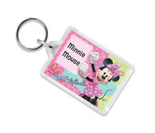 (MINNIE MOUSE) PERSONALISED BAG TAG KEYRING- SCHOOL/BIRTHDAYS/GIFTS/KIDS/GIRL