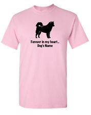 Alaskan Malamute Dog ~ Forever in my heart with Name T-shirt ~ Rainbow Bridge