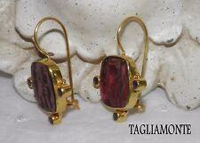 TAGLIAMONTE(630/894)Earrings*YGP925*Pan Festival Venetian Intaglio+Amethyst