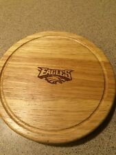 Philadelphia Eagles NFL Engraved Tailgate Brie Cheese Board Set and Tools, NIB