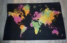 WELT Weltkarte Erde Wandbehang Tagesdecke Strandtuch Bedcover ca. 190x1,30cm
