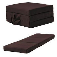 Chocolate Single Chair Z Bed Folding Futon Fold Out Foam Guest Mattress