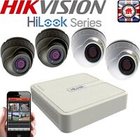 HIKVISION HILOOK HD CCTV KIT SYSTEM 1080P CAMERA WHITE GREY DOME   RECORDER HOME