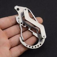 Outdoors EDC Gear Multi Tools Key Holder Keychain Screwdriver Wrench Carabi B5Y9