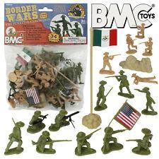 BMC BORDER WARS Plastic Army Men US Army Mexican Villistas Figures 1:32 Scale