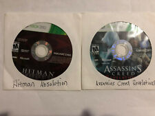 Hitman: Absolution AND Assassins Creed Revelations Xbox 360 Discs Only