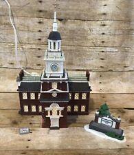 Department 56 Independence Hall Heritage Village Landmark Series With Box Used