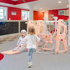 Toddler Indoor/Outdoor playground set Swing Slide Set and Basketball Hoop Toys