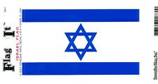 ISRAEL FLAG LAMINATED CAR SELF ADHESIVE VINYL DECAL STICKER NEW