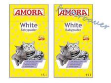 Amora White Katzenstreu mit Babypuderduft 15ltr